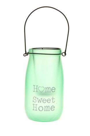 Свещник фенер, Цвят Зелен, Стъкло, Цена 19,24лв.
