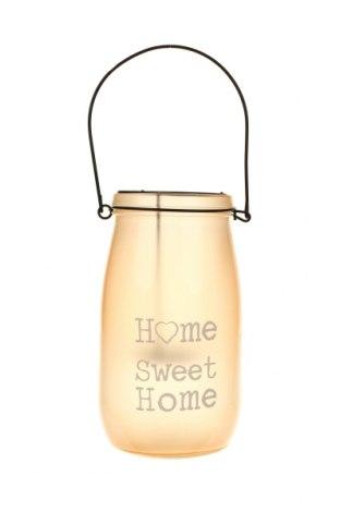 Свещник фенер, Цвят Оранжев, Стъкло, Цена 19,24лв.