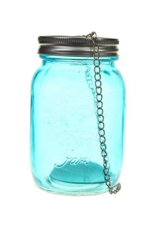 Свещник фенер H&S, Цвят Син, Стъкло, Цена 14,80лв.