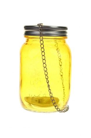 Свещник фенер H&S, Цвят Жълт, Стъкло, Цена 14,80лв.