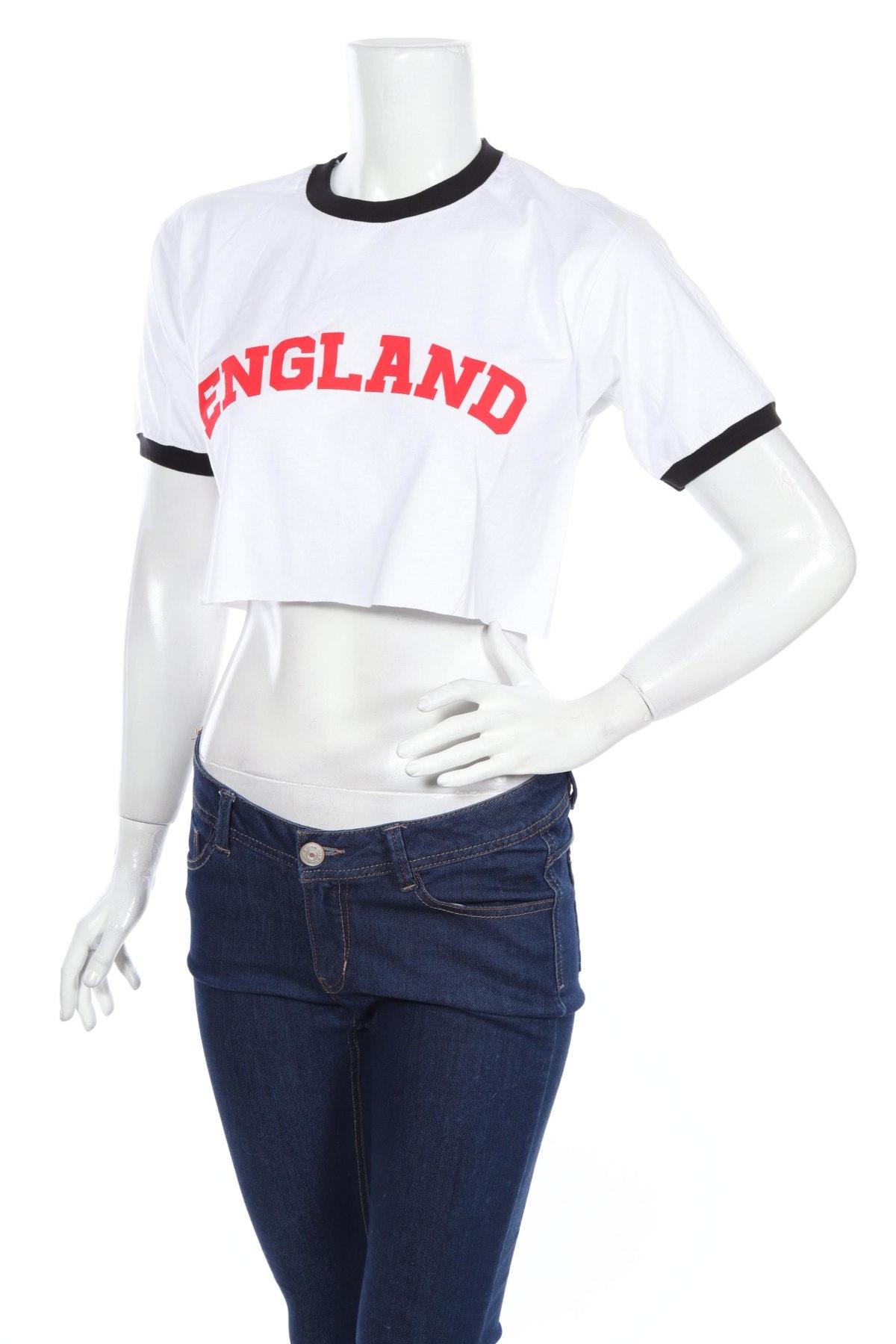 Дамска тениска Missguided, Размер M, Цвят Бял, Памук, Цена 18,56лв.