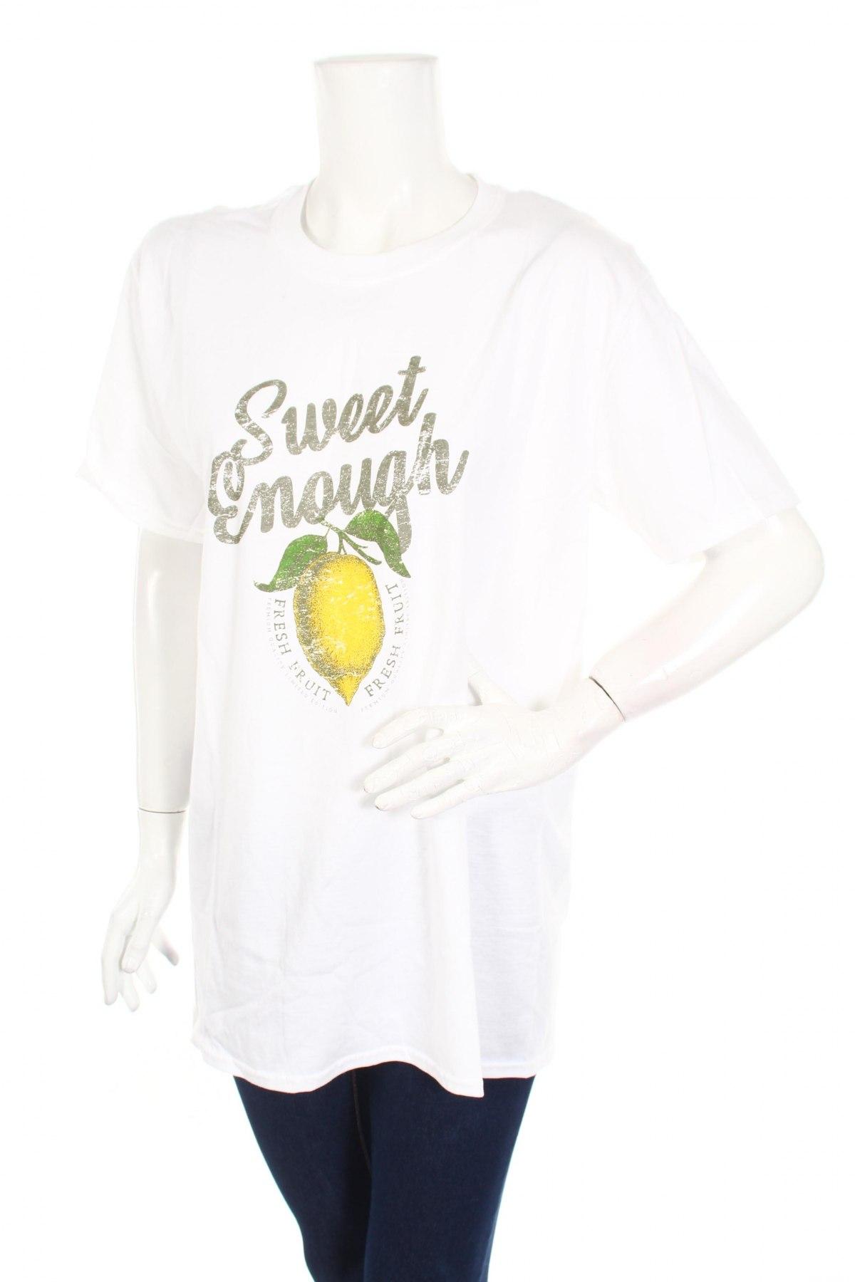 Дамска тениска Missguided, Размер L, Цвят Бял, Памук, Цена 25,55лв.