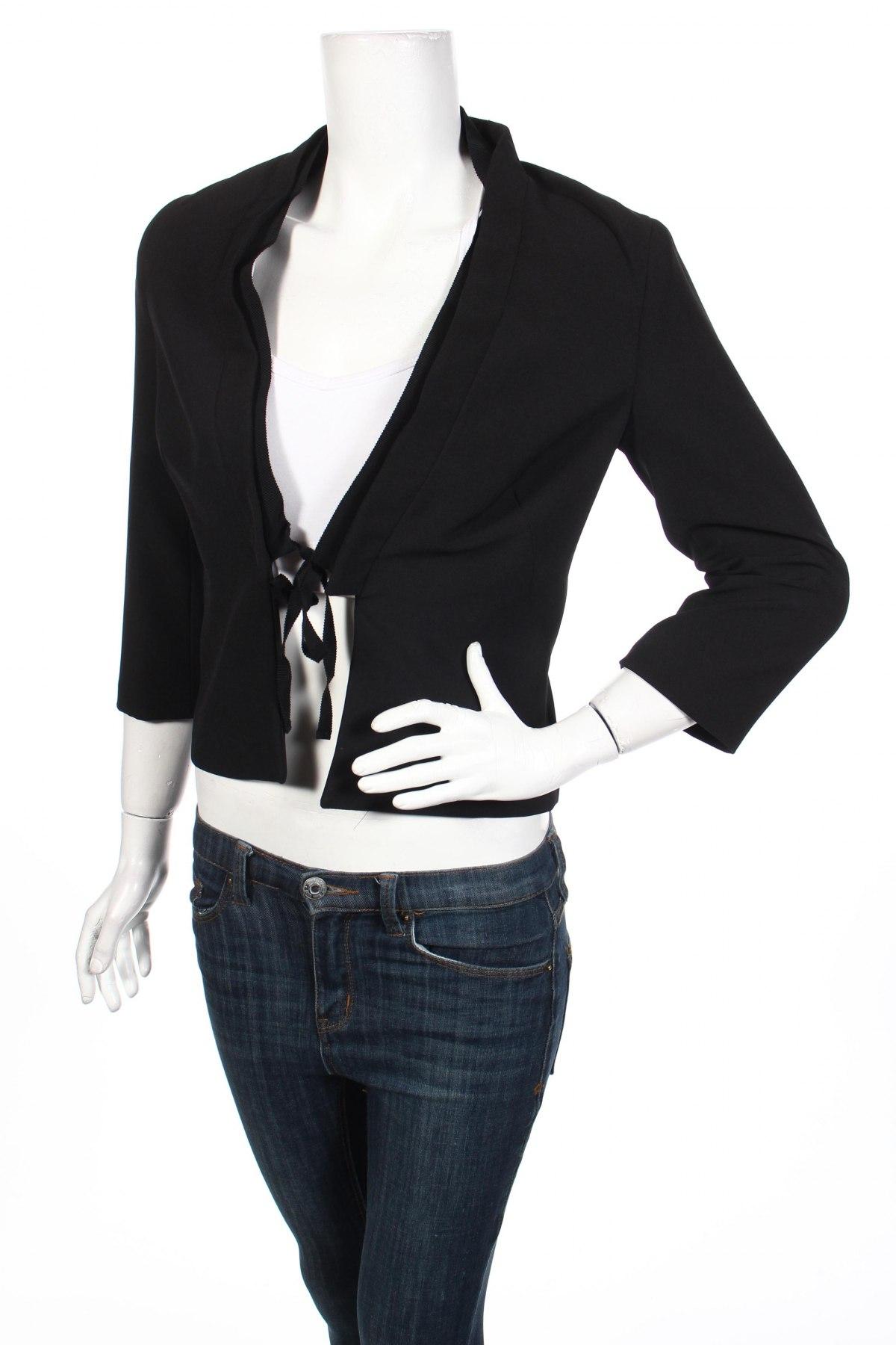 Дамско сако Motivi, Размер S, Цвят Черен, 94% полиестер, 6% еластан, Цена 57,12лв.