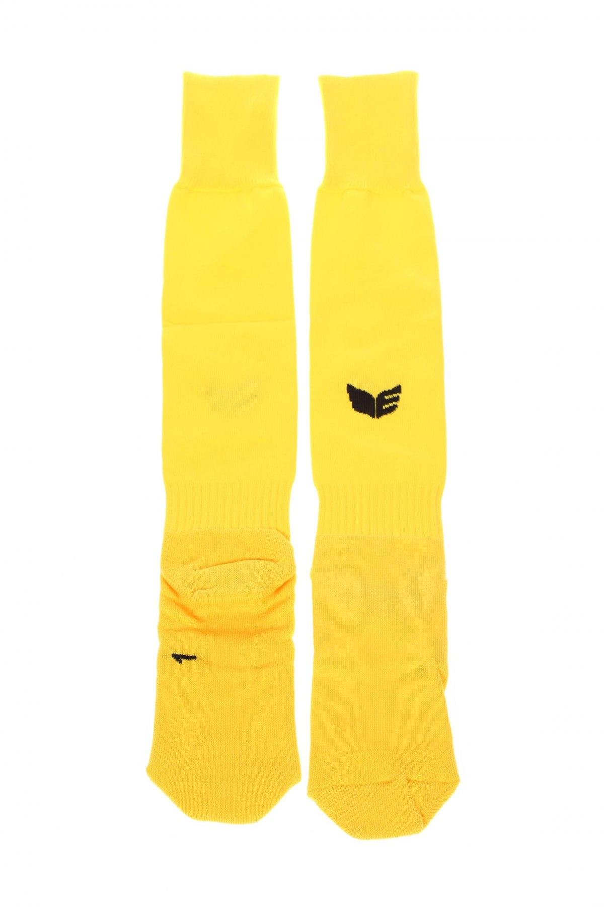Детски спортни чорапи Erima, Размер 7-8y/ 128-134 см, Цвят Жълт, 64% полиестер, 21% памук, 15% еластан, Цена 16,56лв.