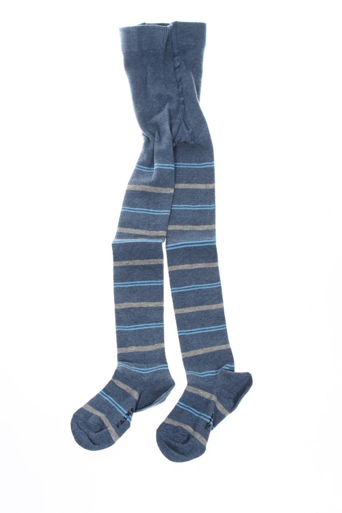 Детски спортни чорапи Falke, Размер 4-5y/ 110-116 см, Цвят Син, 77% памук, 22% полиамид, 1% еластан, Цена 21,76лв.