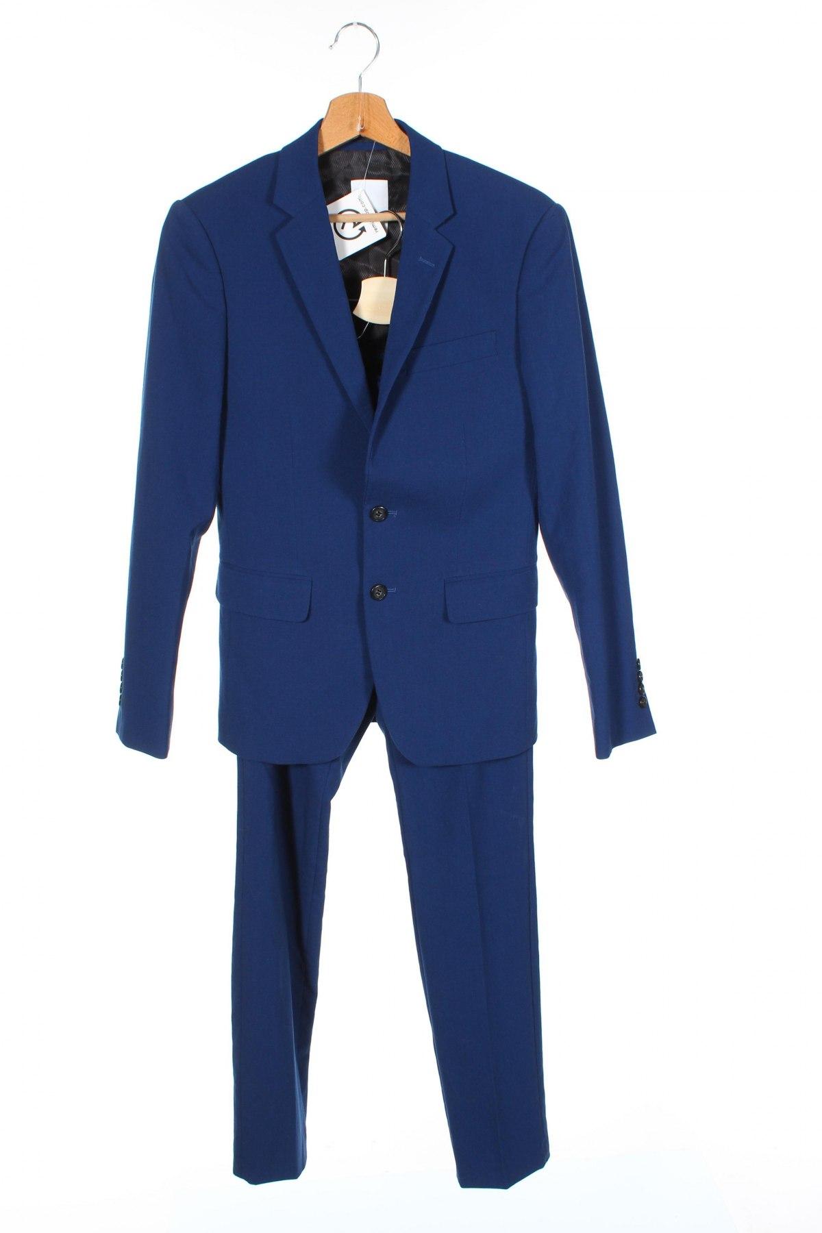 Мъжки костюм Lindbergh, Размер S, Цвят Син, 68% полиестер, 30% вискоза, 2% еластан, Цена 68,70лв.