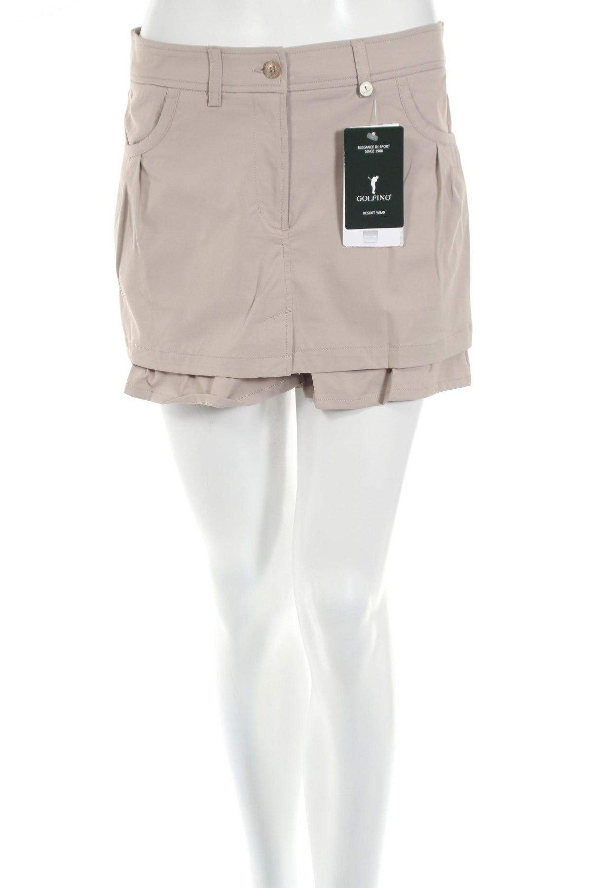 Пола - панталон Golfino, Размер S, Цвят Бежов, 96% полиамид, 4% еластан, Цена 18,46лв.