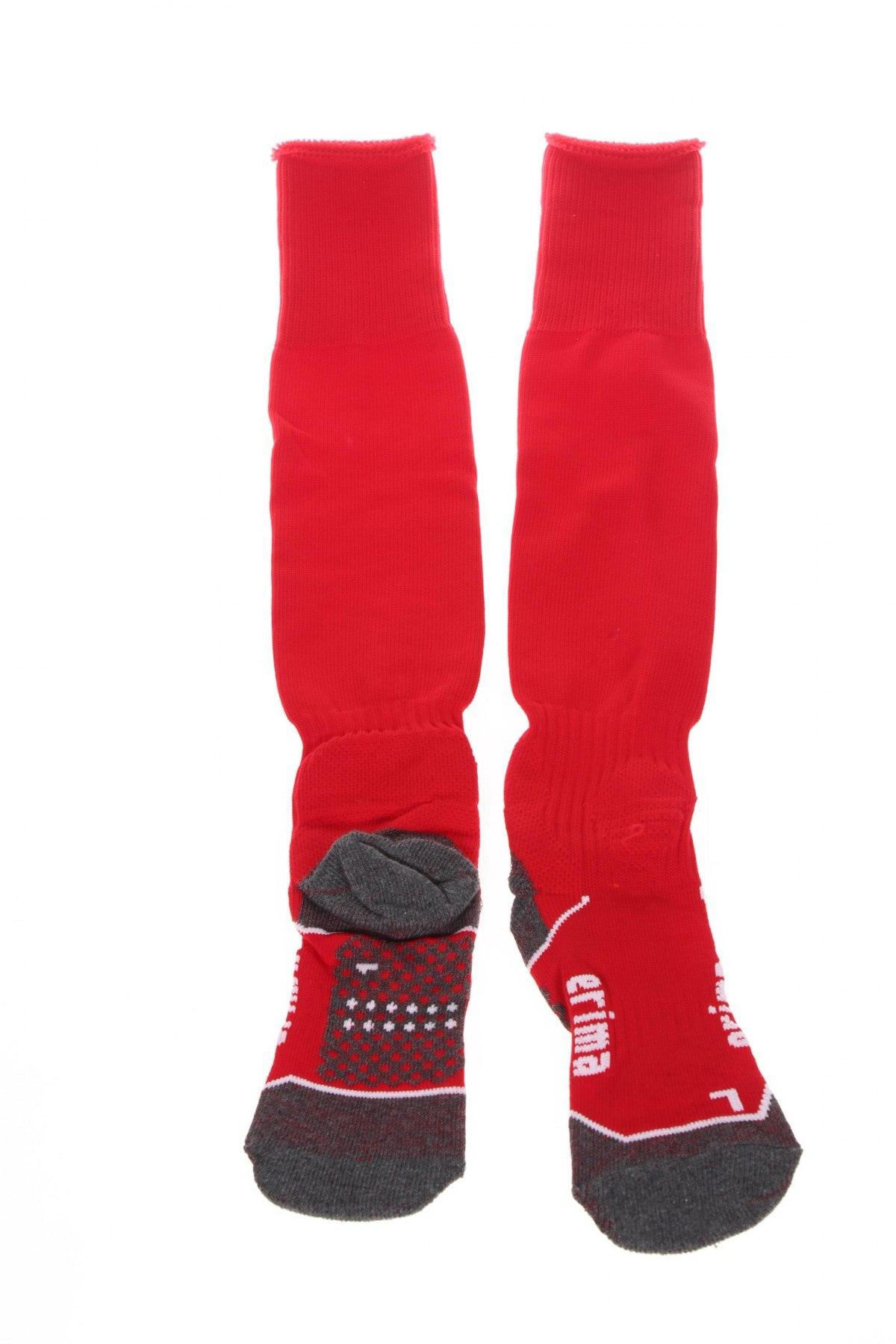 Детски спортни чорапи Erima, Размер 7-8y/ 128-134 см, Цвят Червен, 77% полиестер, 16% памук, 4% еластан, 3% полиуретан, Цена 12,65лв.