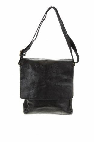 Чанта, Цвят Черен, Естествена кожа, Цена 51,87лв.
