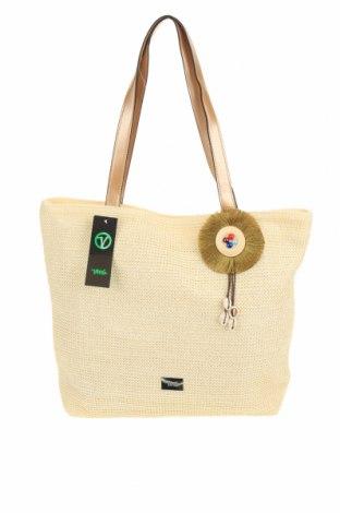 Τσάντα Verde, Χρώμα Εκρού, Άλλα υφάσματα, δερματίνη, Τιμή 21,34€