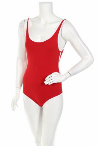 Дамска блуза - боди Pull&Bear, Размер M, Цвят Червен, 93% памук, 7% еластан, Цена 13,20лв.