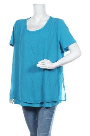 Дамска блуза Amy Vermont, Размер XXL, Цвят Син, 95% полиестер, 5% еластан, Цена 12,60лв.