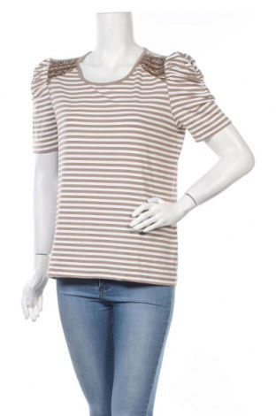 Дамска блуза Amy Vermont, Размер L, Цвят Бял, 70% вискоза, 25% полиестер, 5% еластан, Цена 14,28лв.