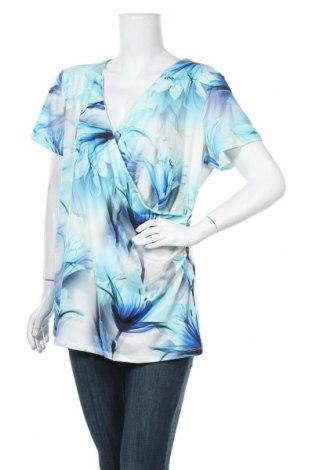 Дамска блуза Ashley Brooke, Размер XXL, Цвят Многоцветен, 95% полиестер, 5% еластан, Цена 16,07лв.