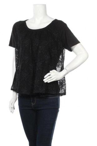 Дамска блуза Ellos, Размер XL, Цвят Черен, 50% памук, 50% вискоза, Цена 13,39лв.