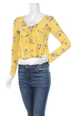 Γυναικεία μπλούζα Hollister, Μέγεθος XS, Χρώμα Κίτρινο, Βισκόζη, Τιμή 5,41€