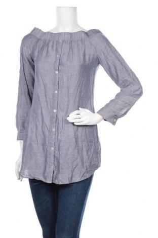 Дамска блуза Iris, Размер M, Цвят Син, Памук, Цена 15,96лв.