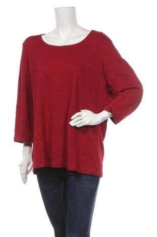 Дамска блуза Karen Scott, Размер XXL, Цвят Червен, Памук, Цена 21,84лв.