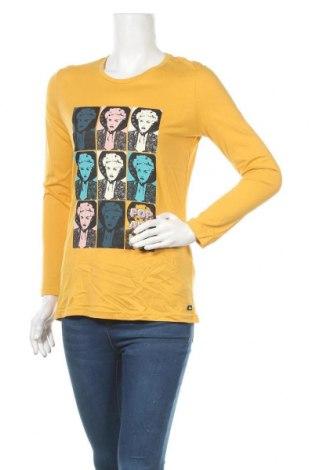 Дамска блуза Lois, Размер S, Цвят Жълт, 50% памук, 50% модал, Цена 15,39лв.