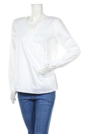 Дамска блуза Madeleine, Размер L, Цвят Бял, 77% памук, 20% полиамид, 3% еластан, Цена 13,20лв.