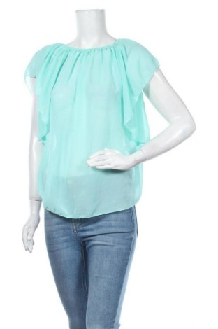 Дамска блуза Madonna, Размер M, Цвят Син, 50% полиестер, 45% вискоза, 5% еластан, Цена 15,12лв.