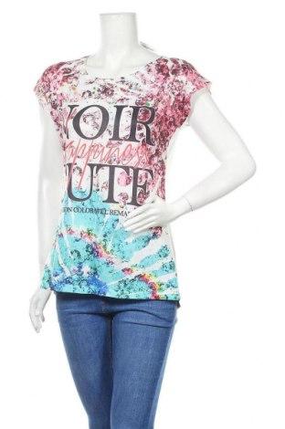Дамска блуза Madonna, Размер M, Цвят Многоцветен, 95% вискоза, 5% еластан, Цена 16,07лв.
