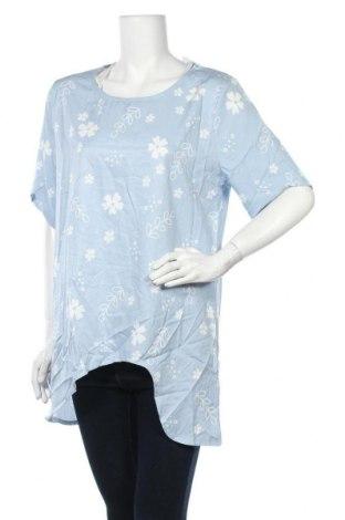 Дамска блуза Miss Look, Размер XL, Цвят Син, Памук, полиестер, Цена 4,41лв.