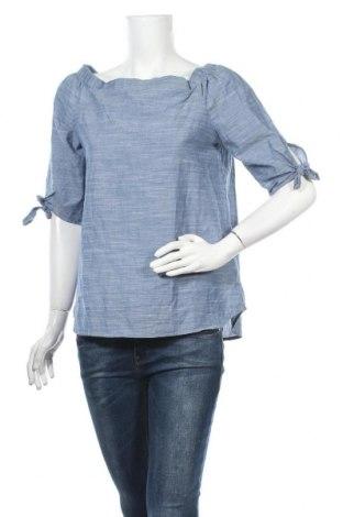 Дамска блуза Modstrom, Размер S, Цвят Син, Памук, Цена 16,96лв.