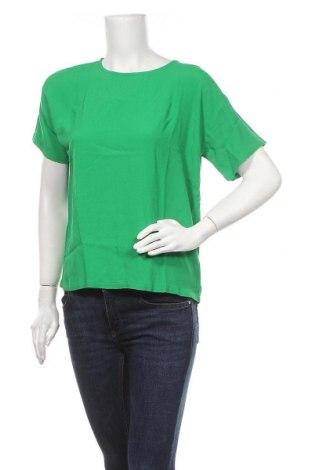 Дамска блуза Modstrom, Размер S, Цвят Зелен, Вискоза, Цена 36,57лв.