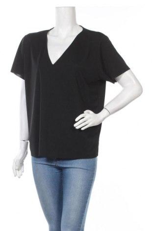 Дамска блуза Mtwtfss Weekday, Размер M, Цвят Черен, Полиестер, Цена 15,12лв.