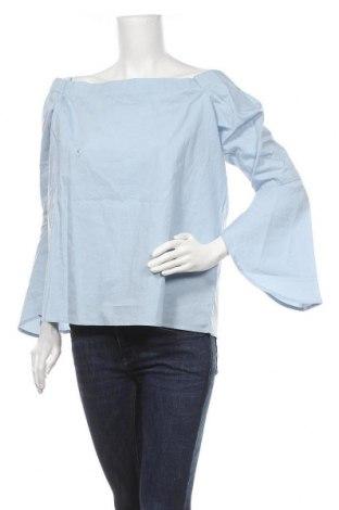 Дамска блуза Neon Rose, Размер L, Цвят Син, Памук, Цена 14,75лв.