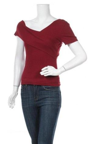 Дамска блуза SHEIN, Размер S, Цвят Червен, 70% полиестер, 25% памук, 5% еластан, Цена 18,90лв.