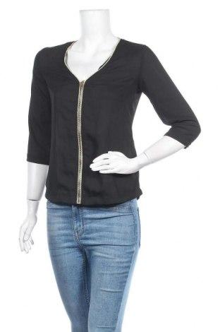 Дамска блуза Saint Germain, Размер M, Цвят Черен, Полиестер, Цена 13,39лв.