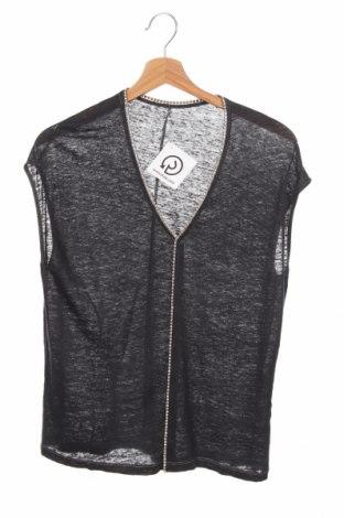 Дамска блуза Steffen Schraut, Размер XS, Цвят Сив, Лен, Цена 21,00лв.