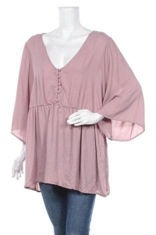Дамска блуза Torrid, Размер 3XL, Цвят Розов, Полиестер, Цена 14,18лв.