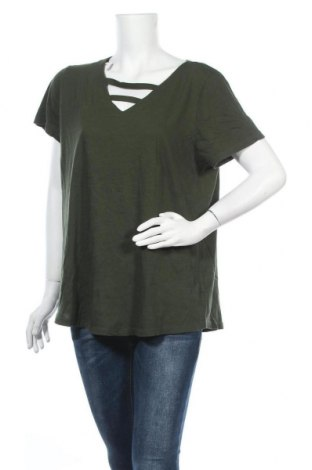Дамска блуза Torrid, Размер L, Цвят Зелен, Памук, Цена 4,46лв.