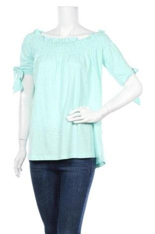 Дамска блуза Venca, Размер L, Цвят Зелен, Памук, Цена 16,80лв.