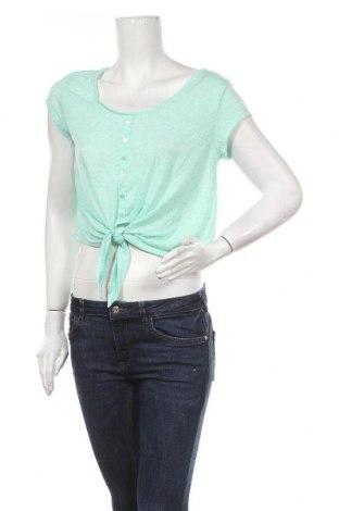 Дамска блуза Yes Or No, Размер XL, Цвят Зелен, 85% полиестер, 15% лен, Цена 3,00лв.