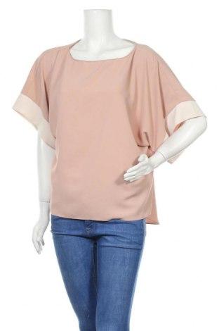 Дамска блуза Zara, Размер L, Цвят Бежов, Полиестер, Цена 9,24лв.