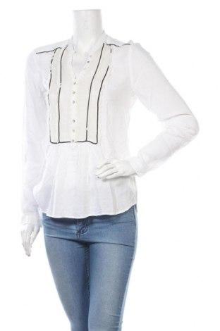 Γυναικεία μπλούζα Zara, Μέγεθος M, Χρώμα Λευκό, 95% βισκόζη, 5% μετάξι, Τιμή 8,23€