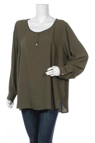 Дамска блуза Zizzi, Размер XL, Цвят Зелен, 97% полиестер, 3% еластан, Цена 10,97лв.