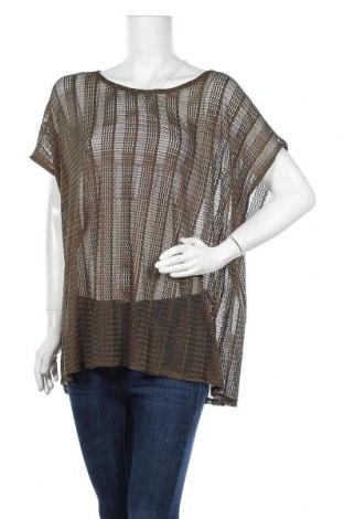 Дамска блуза Zizzi, Размер XXL, Цвят Зелен, 95% полиестер, 5% еластан, Цена 5,89лв.