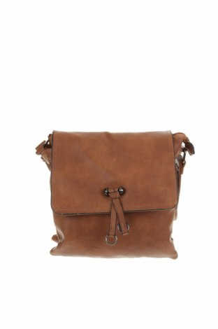 Дамска чанта, Цвят Кафяв, Еко кожа, Цена 22,05лв.
