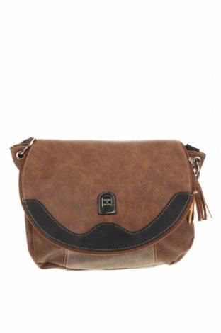 Дамска чанта, Цвят Кафяв, Еко кожа, Цена 27,72лв.