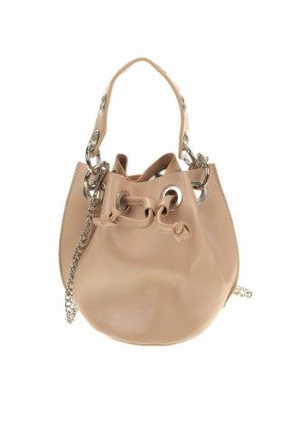 Дамска чанта, Цвят Бежов, Еко кожа, Цена 18,48лв.