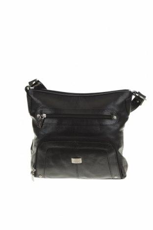 Дамска чанта, Цвят Черен, Естествена кожа, Цена 45,36лв.