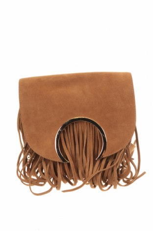 Дамска чанта Bardot, Цвят Кафяв, Естествен велур, Цена 40,27лв.