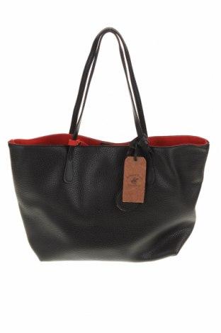 Γυναικεία τσάντα Beverly Hills Polo Club, Χρώμα Μαύρο, Δερματίνη, Τιμή 35,58€