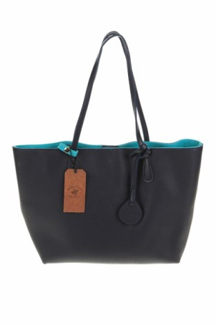 Дамска чанта Beverly Hills Polo Club, Цвят Син, Еко кожа, Цена 89,25лв.