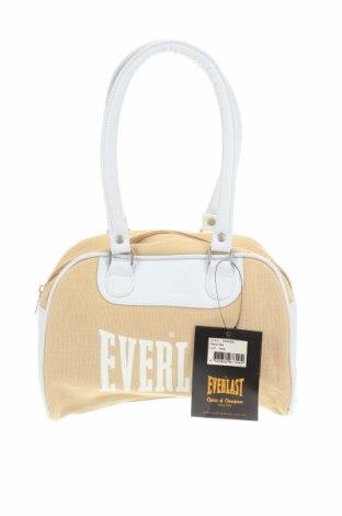 Дамска чанта Everlast, Цвят Бежов, Еко кожа, текстил, Цена 32,34лв.